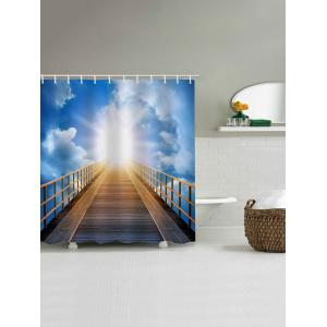 Sunlight Wooden Bridge Print Shower Curtain -