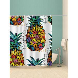 Colorized Pineapple Printed Bath Curtain -