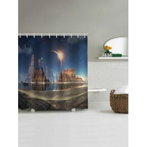Rock Castle Planet Print Shower Curtain -
