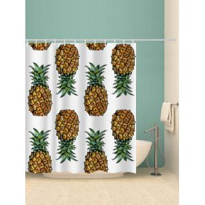 Pineapples Printed Bath Curtain -