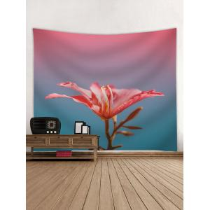 A Red Flower Print Wall Hanging Tapestry -