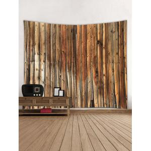 Vertical Wood Texture Print Tapestry -