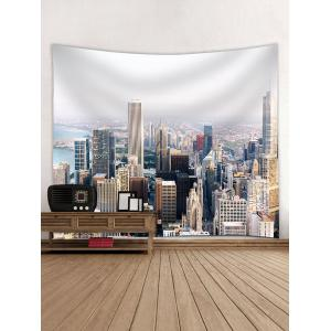 Modern City Buildings Pattern Wall Art Tapestry -
