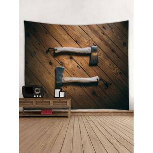Firewood Axes Print Tapestry -