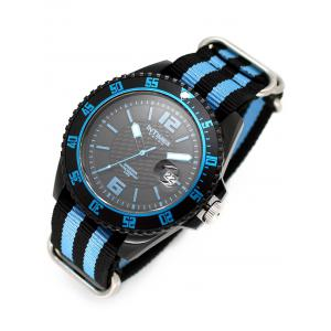 InTimes Plastic Case Sporty Watch with Nylon Band -