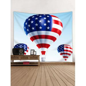 American Flag Fire Balloon Pattern Wall Hanging Tapestry -