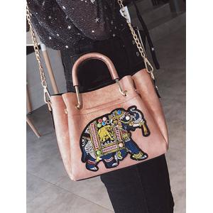 Beading Embroidery Vintage Tote Bag -