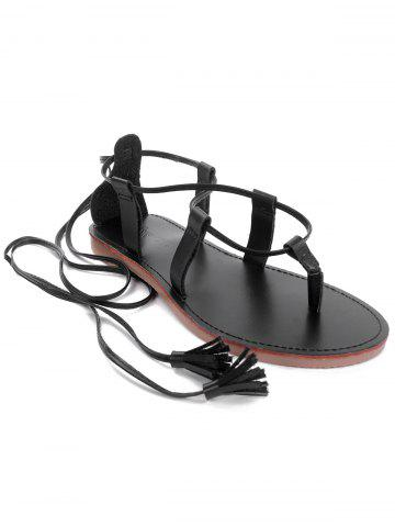 Trendy Flat Heel Tassels Casual Holiday Thong Sandals
