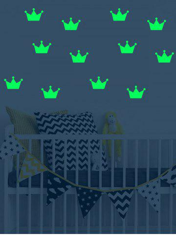 Shops Crown Pattern Luminous Wall Art Stickers