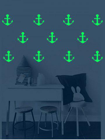 Buy Anchor Pattern Removable Luminous Wall Art Stickers