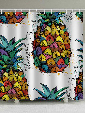 Store Colorized Pineapple Printed Bath Curtain