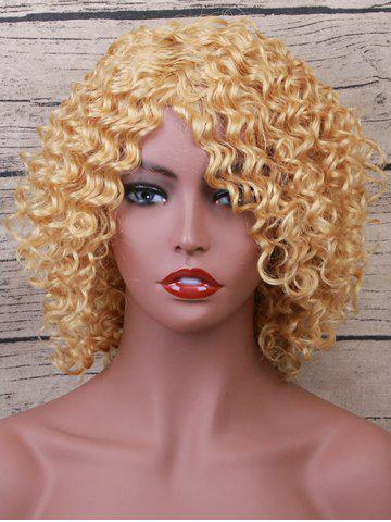 Buy Short Inclined Bang Wavy Party Human Hair Wig