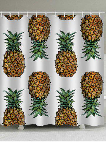 Affordable Pineapples Printed Bath Curtain