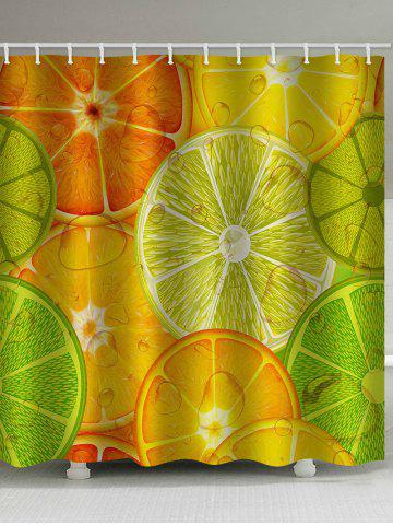 Discount Vivid Lemon Slices Pattern Bath Curtain