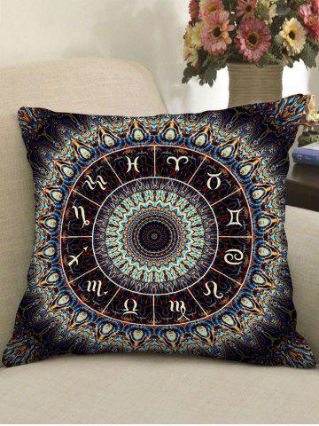 Fancy Zodiac Wheel Print Sofa Pillowcase