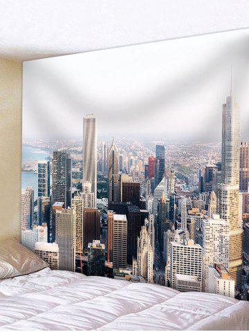 Unique Modern City Buildings Pattern Wall Art Tapestry
