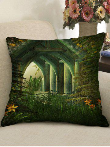 Unique Retro Pavilion Print Decorative Sofa Pillowcase
