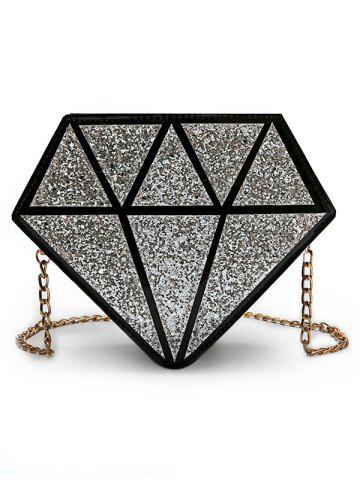 New Irregular Shaped Sequins Party Crossbody Bag with Chain