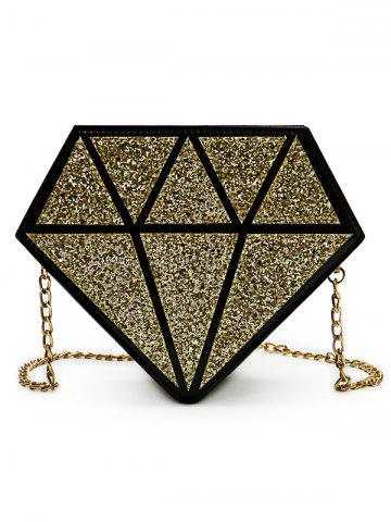 Trendy Irregular Shaped Sequins Party Crossbody Bag with Chain