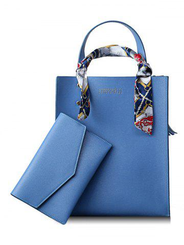 Discount Scarf Casual Shopping 2 Pieces Tote Bag Set