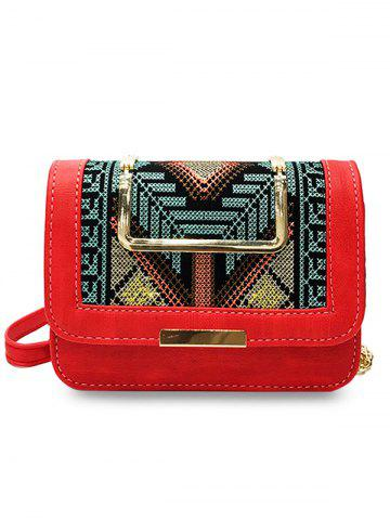 New Color Block Embroidery Personalized  Crossbody Bag