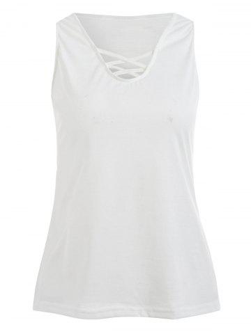 Affordable Sleeveless Criss Cross Tank Top