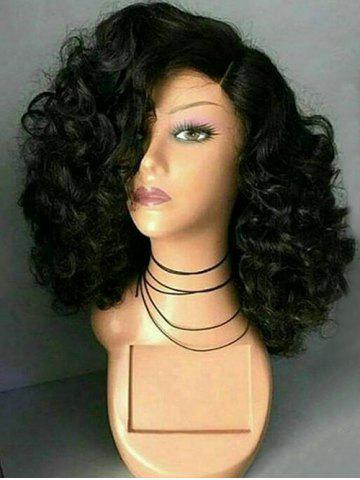 Unique Medium Side Parting Fluffy Curly Synthetic Wig