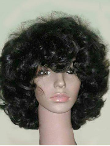 Online Medium Side Bang Fluffy Curly Heat Resistant Synthetic Wig