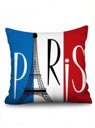 Eiffel Tower Printed Linen Pillowcase -