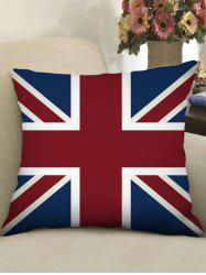 Union Jack Print Decorative Linen Sofa Pillowcase -
