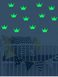 Crown Pattern Luminous Wall Art Stickers -