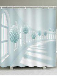Corridor Ball Print Waterproof Bathroom Shower Curtain -