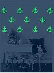Anchor Pattern Removable Luminous Wall Art Stickers -