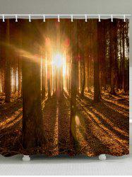 Sunlight Forest Print Waterproof Bathroom Shower Curtain -