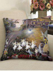 Fairy Home Print Decorative Sofa Pillowcase -