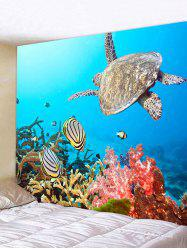 Sea Animal Turtle Print Tapestry -