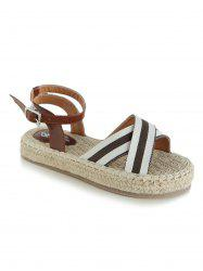 Platform Espadrille Striped Sandals -