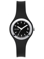 InTimes Wristwatch with Silicone Strap and 50m Water Resistant -