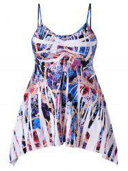 Plus Size Floral Empire Waist Tank Top -