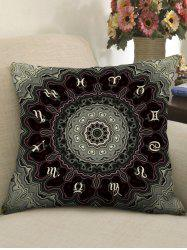 Zodiac Agate Print Decorative Sofa Pillowcase -