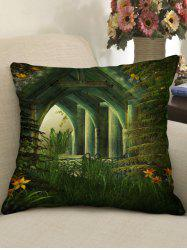 Retro Pavilion Print Decorative Sofa Pillowcase -