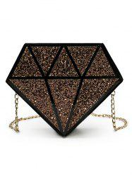 Irregular Shaped Sequins Party Crossbody Bag with Chain -