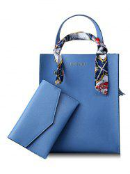 Scarf Casual Shopping 2 Pieces Tote Bag Set -