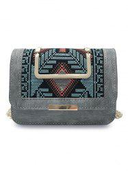 Color Block Embroidery Personalized  Crossbody Bag -