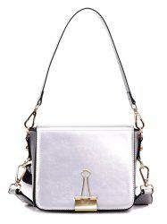 Big Capacity Magnetic Buckle Crossbody Bag with Shoulder Strap -