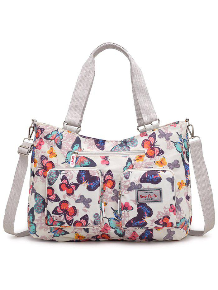 Fashion Outdoor Casual Flowers Multiple Function Tote Bag