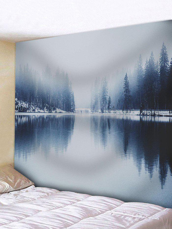 Best Winter Lake Landscape Pattern Wall Art Tapestry