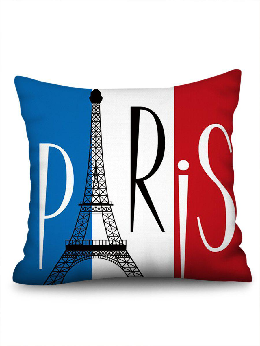 Outfits Eiffel Tower Printed Linen Pillowcase