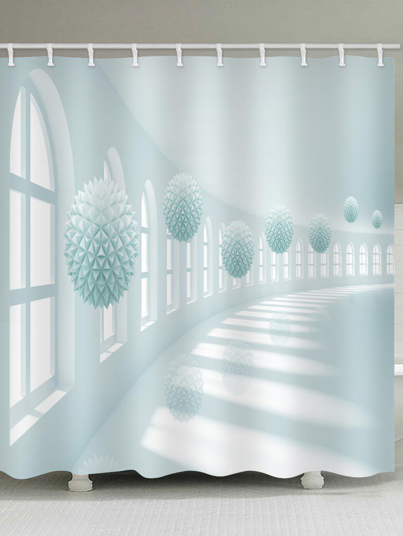 Outfit Corridor Ball Print Waterproof Bathroom Shower Curtain