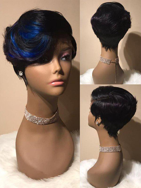 Outfit Short Side Bang Colormix Layered Straight Synthetic Wig